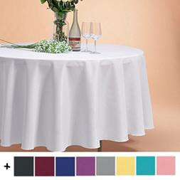 Remedios 108-inch Round Polyester Tablecloth Table Cover - W
