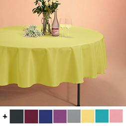Remedios 90-inch Round Polyester Tablecloth Table Cover - We