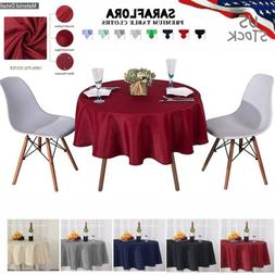Round Polyester Tablecloth Wedding Table Covers Decoration S