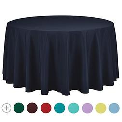 VEEYOO 108 inch Round Solid Polyester Tablecloth for Wedding