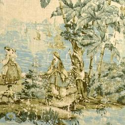 round tablecloth bosporus flax toile