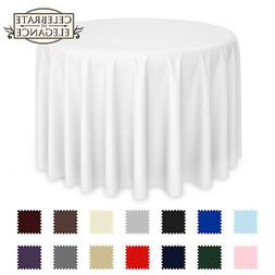 round wedding banquet polyester fabric tablecloth more