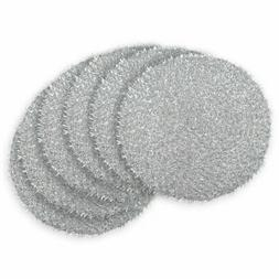 DII Round Woven Tinsel Placemat - Set of 6