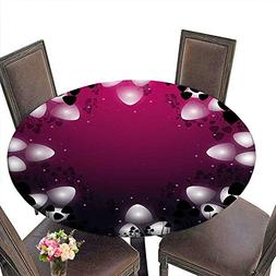 Cheery-Home RoundTable Cloth  duitable for All Occasions,  M