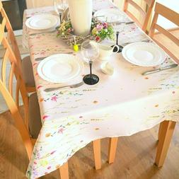 SALE! Floral Coloring Easter Tablecloth 8ft Non-iron Stain R