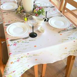 SALE! Floral Coloring Easter Tablecloth Non-iron Stain Resis
