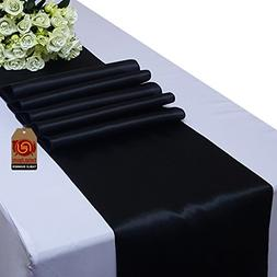 Parfair Dessin Satin Table Runners 12 x 108 inch for Wedding
