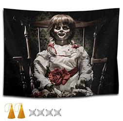 Scary Horror Girl Doll Wall Tapestry Hippie Art Tapestry Wal