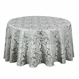 scroll damask jacquard tablecloth polyester fabric water