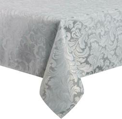 ColorBird Scroll Damask Jacquard Tablecloth Polyester Fabric