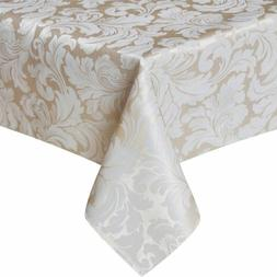 ColorBird Scroll Damask Jacquard Tablecloth Spillproof Water