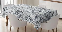 sea shells tablecloth by 3 sizes rectangular