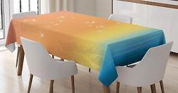 Seagulls Tablecloth Ambesonne 3 Sizes Rectangular Table Cove