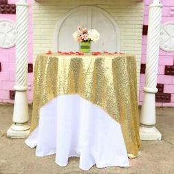 Sequin Banquet Square Tablecloth Cover Table Cloth Sparkling