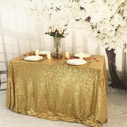 BalsaCircle 90x132-Inch Gold Rectangle Tablecloth for Weddin