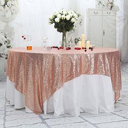 PartyDelight Sequin Tablecloth, Sequin Table Overlay, Square