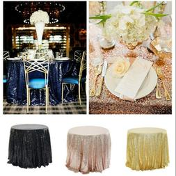 sequin tablecloth glitter wedding party banquet table