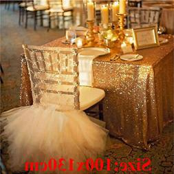 Sequin Tablecloth Glitter Wedding Party Banquet Table polyes