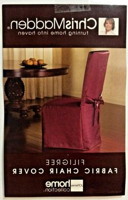 """Chris Madden Fabric Chair Covers Garnet Fits up to 21"""" Wide"""