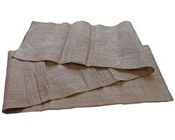Set Tablecloth Runner Burlap Natural 14 X 72 Inch  By Browar
