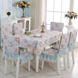 Shabby Chic Roses Lace Tablecloth Table Cloth Cover Kitchen