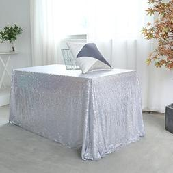 silver sequin tablecloth christmas table
