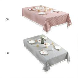 Simple Rectangle Cotton Linen Tablecloth Dining Table Cloth