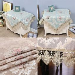 Small Square Lace Blue Tablecloth Embroidered Table Cover Co