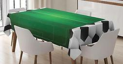 Soccer Tablecloth Ambesonne 3 Sizes Available Rectangular Ta