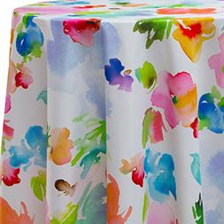 Ultimate Textile Sofia 60 x 102-Inch Oval Printed Tablecloth