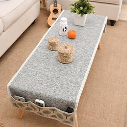 Soft Table Cloth Cotton Linen Home With Storage Bag Rectangu