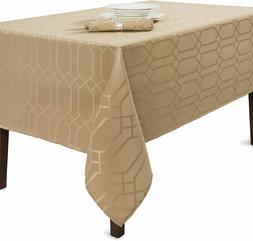 Benson Mills Solid Chagall Spillproof Fabric Tablecloth, 60X