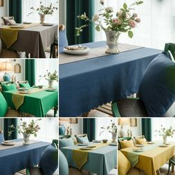 Rectangle Tablecloth Water Resistance Table Cover Wedding Di