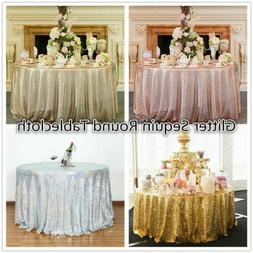 Sparkly Sequin Glitter Table Cloth Wedding Party Banquet Rou
