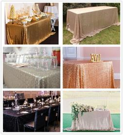 "Sparkly Sequin Tablecloth 60""x102"" Glitter Table Cloth Recta"
