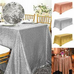 Sparkly Sequin Tablecloth Rectangular Table Cover Wedding Pa