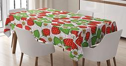 Spring Decor Tablecloth by Ambesonne, Floral Pattern with St