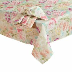 Spring Printed Fabric Tablecloth Addison Hydrangea Easter Di