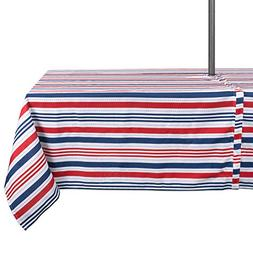 DII Spring & Summer Outdoor Tablecloth, Spill Proof and Wate