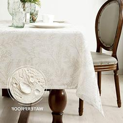 HARORBAY Spring Tablecloth for Rectangle Table, Washable Obl