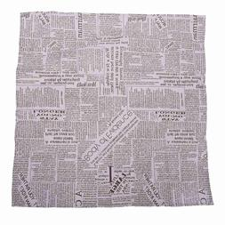 Square Cotton Linen Fashion Newspaper Printed Washable Table