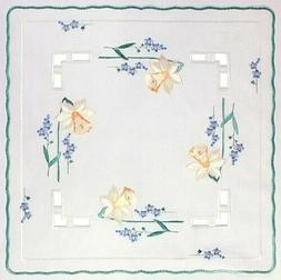 Square Flower Table Cloth Party Room