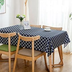 Aoohome 52 x 52 Inch Square Polyester Tablecloth, Water Repe