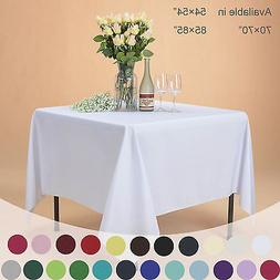 VEEYOO Square Polyester Tablecloth Table Cover For Wedding P