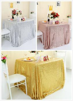 square sequin glitter tablecloth sparkly table cloth