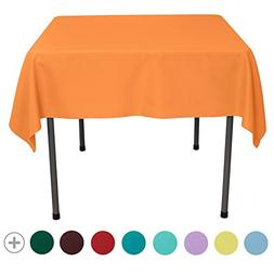 VEEYOO 54 inch Square Solid Polyester Tablecloth for Wedding
