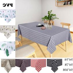 Square Table Cloth Waterproof Oil-Proof Checkered PVC Tablec