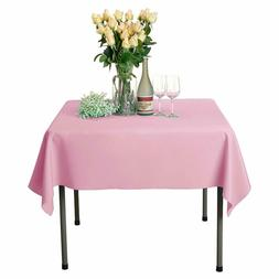 Veeyoo Square Tablecloth 54 Inch - Solid Polyester Table Cov
