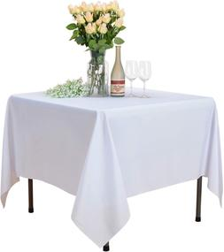 Veeyoo Square Tablecloth - 70X70 Inch Polyester Table Cloth