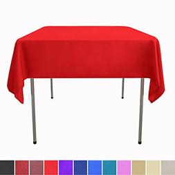 GlaiEleh Square Tablecloth - 54 x 54 Inch - Red Square Table